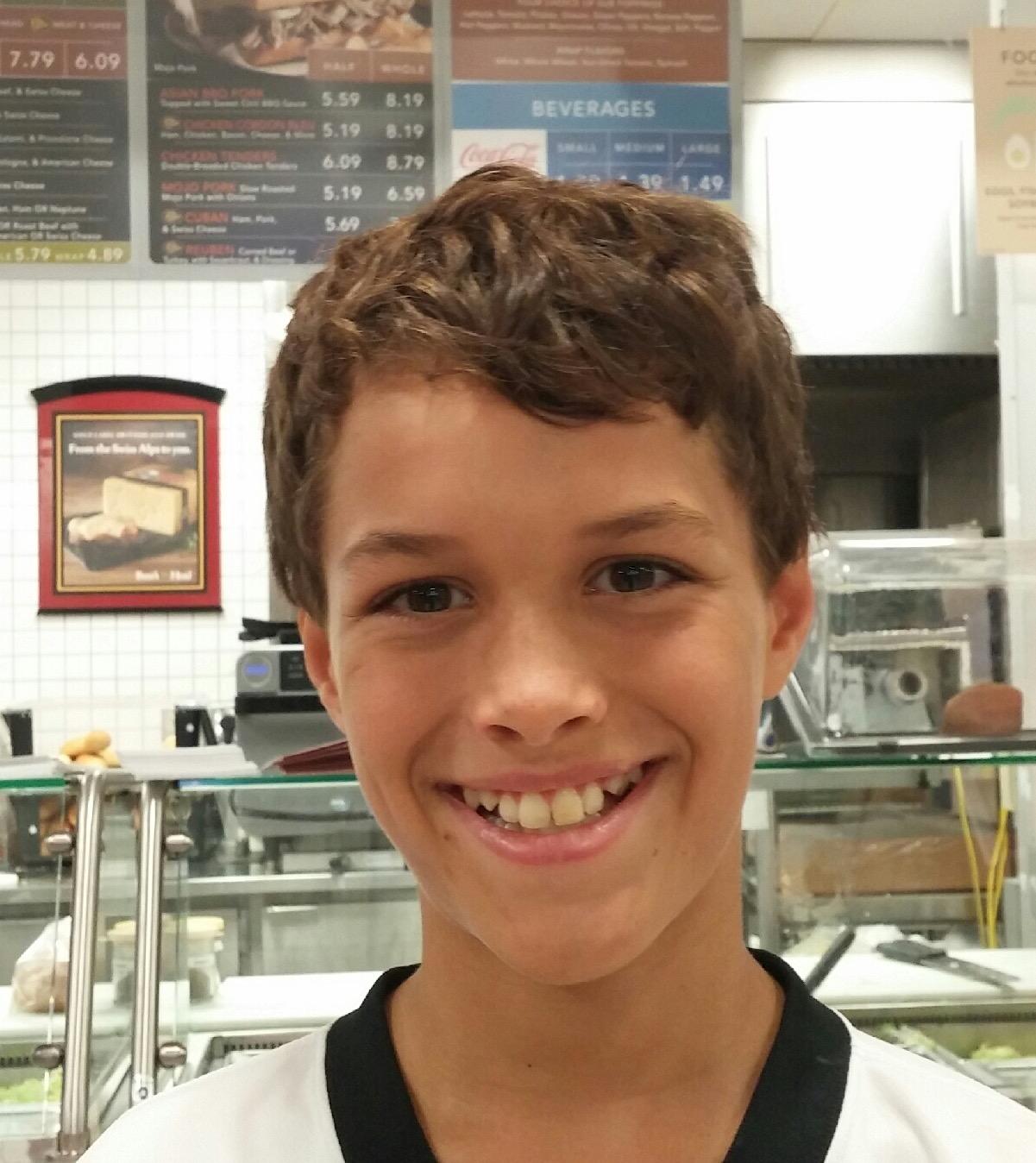 To work hard.  Max,  Age 11