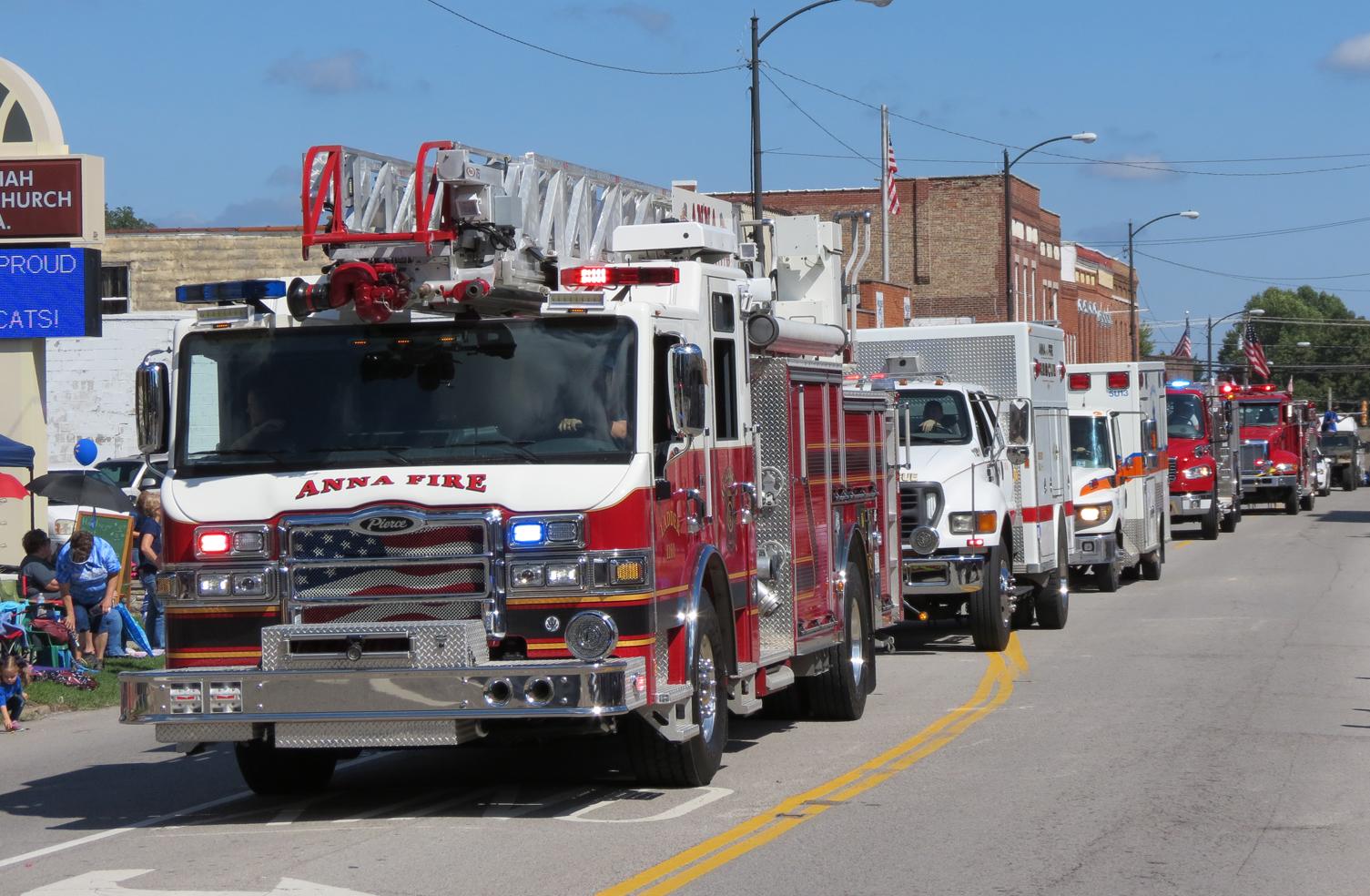 Anna Fire Department ladder truck