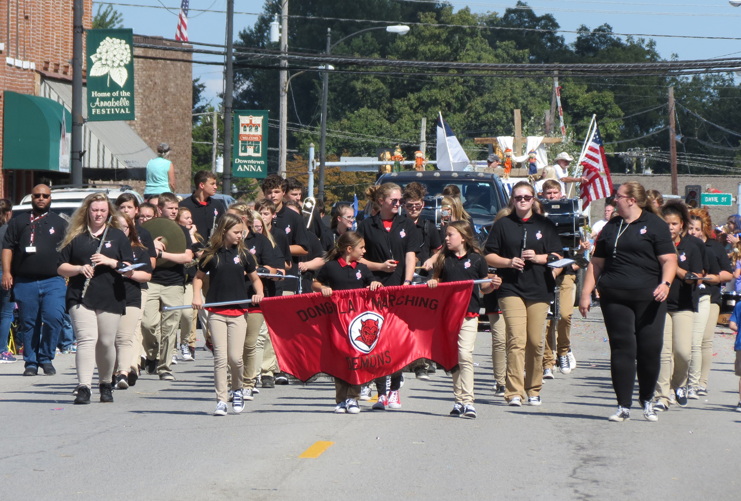 Dongola School marching band