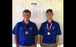 Levi Hall (left) finished in first place and Carson Reynolds placed ninth. Photo provided.