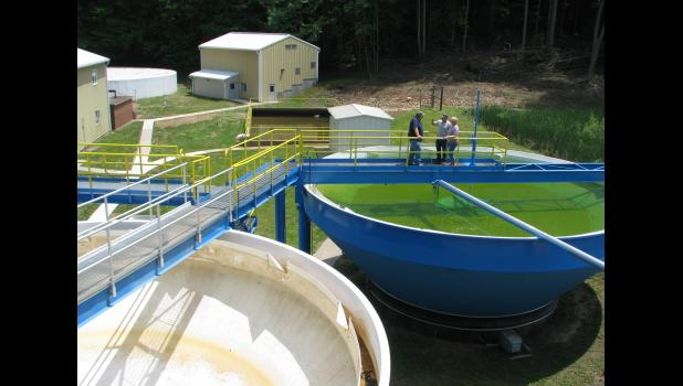 The Anna-Jonesboro Water Commission hosted an open house last Saturday afternoon. Those who attended the open house had an opportunity to get an up-close look at the operations at the commission's water treatment facility near Jonesboro, including gravity upflow clarifiers.