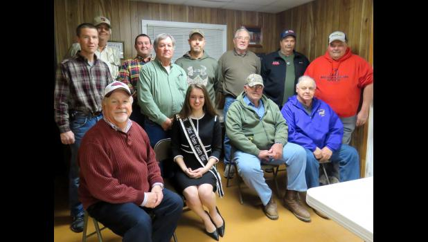 In the first row are, from left, Mike Meisenheimer, Clare Bunyan, Halford Dillow and Ron Knupp. In the second row are Keith Ellis, John Garner, Dale Moreland, Paul Rich, Daniel Theis, Jack Steele, Bill Clutts and Mike Yates. Photo by Amber Skelton.