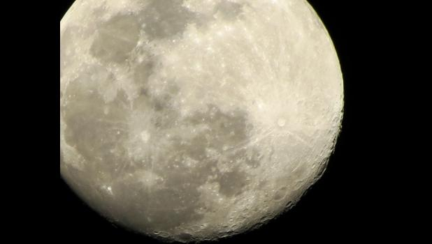 """The """"worm moon""""...almost...this image of our neighbor in the cosmos was captured Friday night, shining brightly in a clear sky over Union County. That would have been a couple of days before the """"worm moon"""" reached """"peak illumination."""""""
