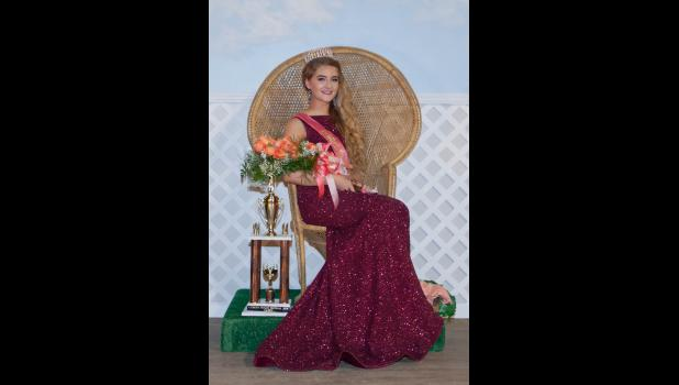 The 2018 Cobden Peach Festival queen was crowned Saturday night. The new queen is Grace Pitts. Photo by Tiffiny Dillow for The Gazette-Democrat.
