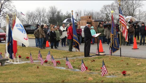 A scene from the 2019 Wreaths Across America ceremony at the Anna City Cemetery. File photo.