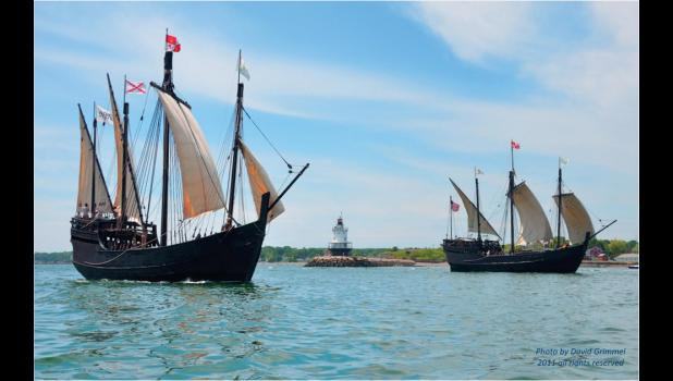 Replicas of the Pinta and Nina are scheduled to visit the region. The ships are replicas used by explorer Christopher Columbus.
