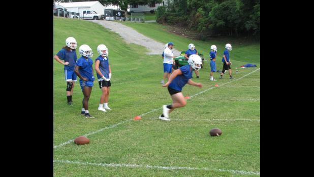 Anna-Jonesboro Community High School opened practice for the 2017 football season on Monday.