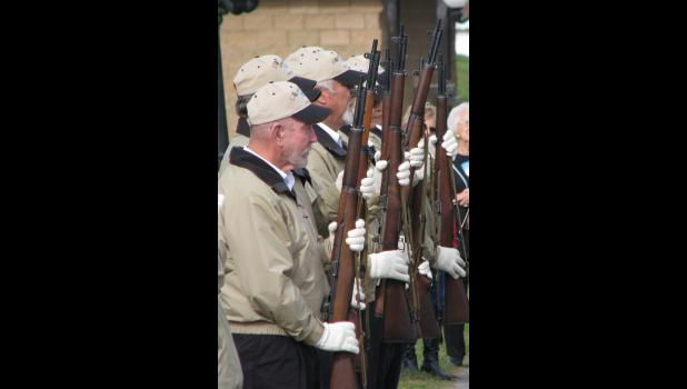 The service was conducted by the Alto Pass Area Veterans to honor military veterans.