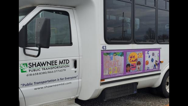 Award-winning art work promoting the 2020 census was created by students in Anna School District No. 37. The art work is now featured on Shawnee Mass Transit District public transportation vehicles. Photo provided.