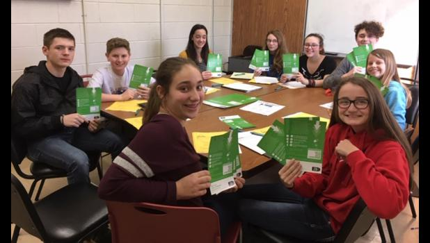 Members of the Anna Junior High School Youth Advisory Committee are working to promote the upcoming observance of National Prescription Drug Take Back Day. Photo provided.