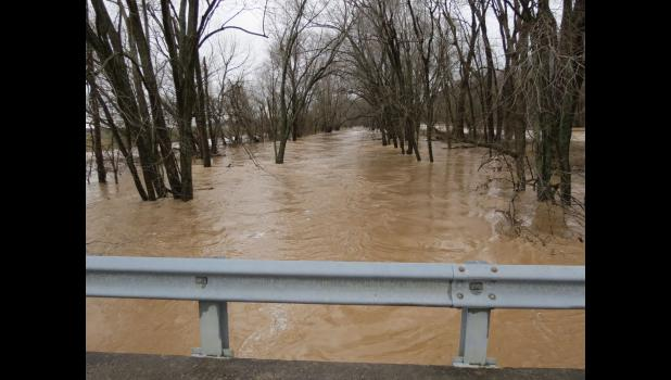 A view of Clear Creek from a bridge on Morgan School Road.