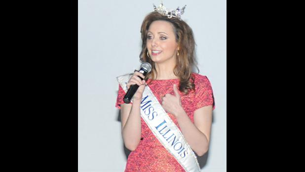 Miss Illinois, Crystal Davis of Anna, shared her story with Rend Lake College students to convince them to stop driving distracted. Photo provided.
