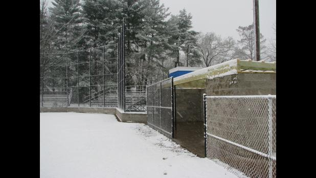 By the morning of game day on Monday, March 13, Kiwanis Field was under a layer of snow. The weather forced the cancellation of the game.