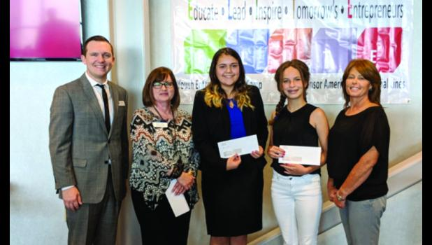 ELITE youth entrepreneurship camp winneres were honored recently. From left are Kyle Loyd, Susan Odum, Jacey Caudle, Sarah Flick and Tabatha Smith. Photo provided.