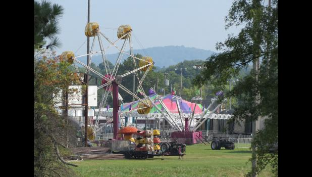 This photo has absolutely nothing to do with frozen brain waves. I just liked the image of a quiet Union County Fair in Anna and the hill off in the distance. The photograph was taken early Saturday morning from the grounds of the nearby Union County Country Club.