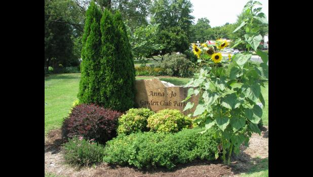 The Anna-Jo Garden Club Park is located at the intersection of Illinois Route 146 and old U.S. Route 51 in Anna.