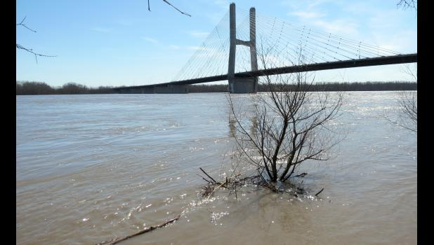 High water was seen on the Mississippi River at Cape Girardeau in March of 2019. File photo.