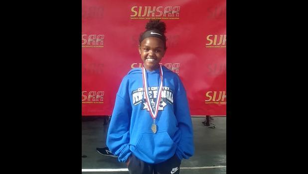 Lick Creek School's Jadyn Gerardi has won an SIJHSAA Class S individual cross country title. Photo provided.