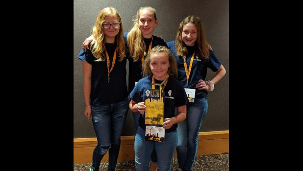 Marketing and communications team members included Miranda Bundren, Ally Hasty, Torie Ralls and Alexandria Keller. Photo provided.