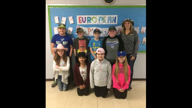 Pictured are some students in teacher Marcy Bundren's class who participated in Hat Day. In the first row are, from left, Heidi Miller, Aleah Box, Kiyona Muncey and Kenzie Miller. In the second row are Lucas Tehandon, Grant Lingle, Elias Knight, Landon Lofton and Mrs. Bundren.