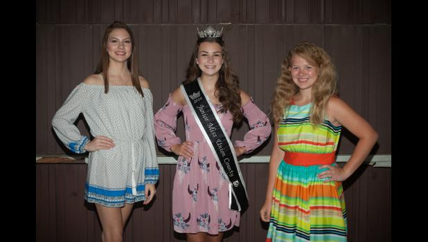 Union County Fair Junior Miss: from left are Grace Girtman, 2016 Union County Fair Junior Miss Addison Osman, Abigail Dahmer. Photo by Tiffiny Dillow.