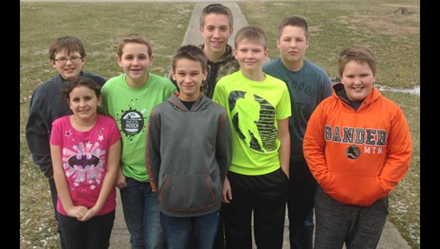 Archery club members included, from left, Clayton Smith, Sophie Smiley, Will Smiley, Bryce Ecker, Levi Moutria, Payton Denny, Jude Smith and Wyatt Pinnon. Photo provided.