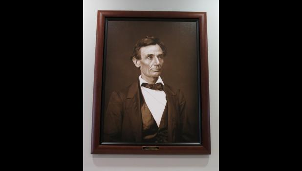 """This """"common-looking"""" fellow really should not need an introduction. At least not in Illinois. This portrait of the fellow is now on display at the Union County Courthouse in Jonesboro."""