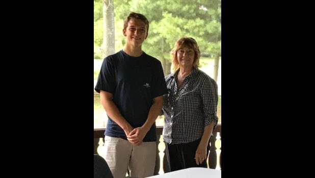 The Anna-Jo Garden Club welcomed scholarship recipient Bryce Massey. He was introduced by Debby McKibben. Photo provided.