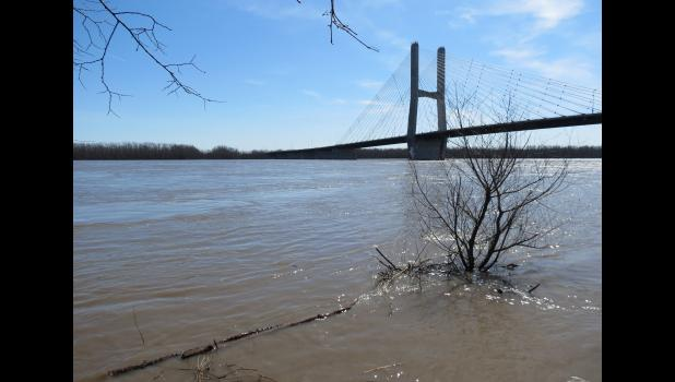 This image was captured from a vantage point which was about as close to the Mississippi River as the photographer dared to stand.