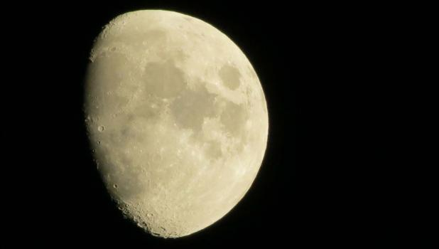 The moon, as it appeared last Saturday night in a clear, early autumn sky over Union County.