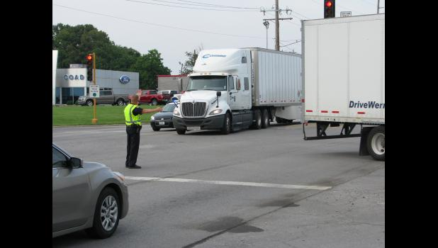The Anna Police Department and the Union County Sheriff's Office were directing traffic Thursday evening, June 14, at the intersection of new U.S. Route 51 and East Vienna Street in Anna. Heavy traffic was being rerouted from Interstate 57 following a major traffic accident.