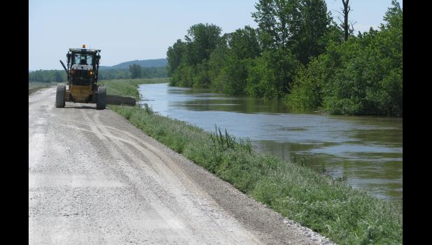 The accompanying picture was taken along the Mississippi River levee west of Wolf Lake in Union County. The picture was taken Saturday, May 6, when the Mississippi River was nearing its crest.