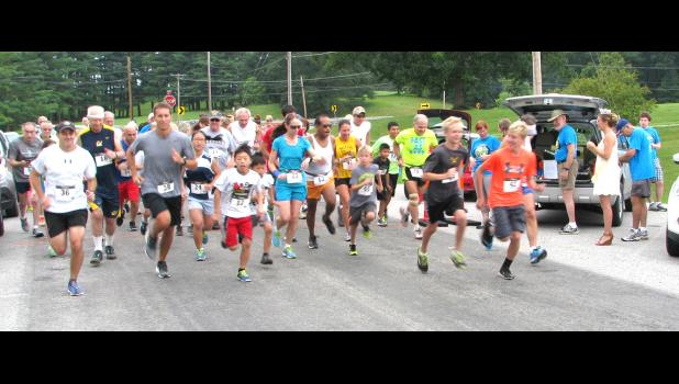 The picture above shows the start of the running event...