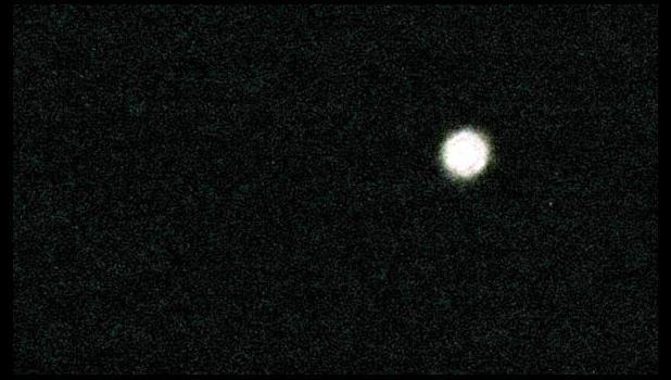 An actual image of the International Space Station...as seen from your writer's front yard...really...