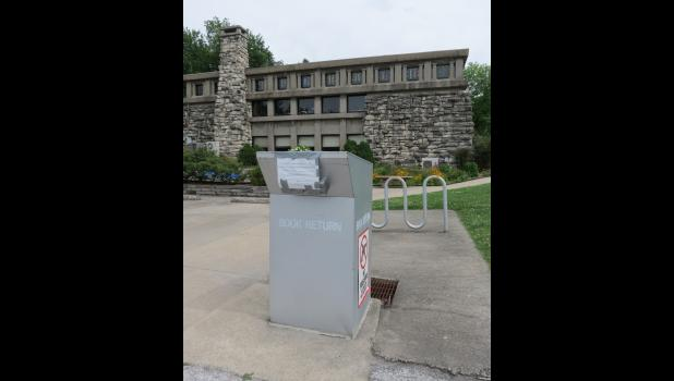 A book drop behind Stinson Memorial Library was scheduled to be open for patrons beginning on June 8.