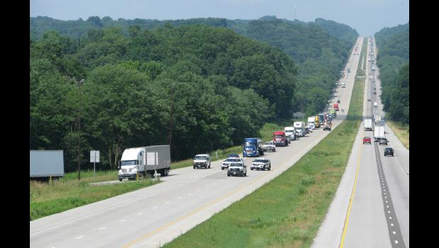 Traffic being rerouted at the Lick Creek Exit