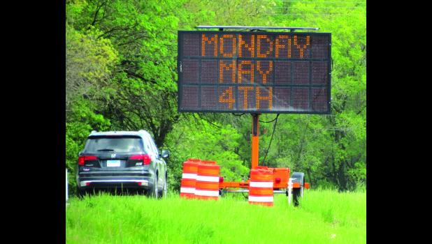 Message boards have been positioned on U.S. Route 51 north of Anna which offer information about an upcoming road project.