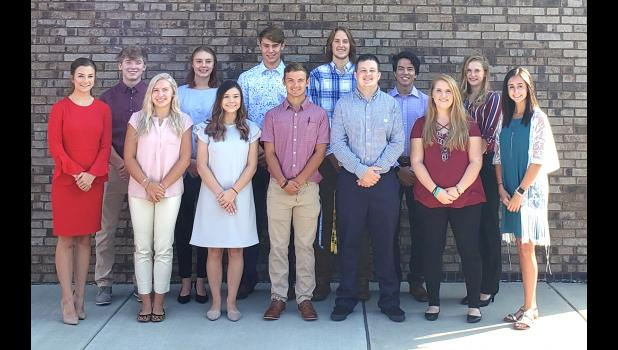 The Union County CEO program has begun its fifth year. Students who are participating in this year's program are, in the first row, from left, Addison Osman, Julia Lasley, Laura Brown, Drake Roach, Reece Barrow, Jayclynn Presuitti and Laurel Lyerla. In the second row are Braden Benns, Sally Sims, Joe Brumleve, Noah McFarland, Alex Remsey and Michelle Wolford. Photo provided.