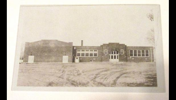 Wolf Lake High School; the gymnasium is on the left. Photo provided.