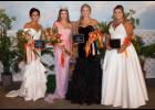 Addison Osman, second from left, is the 2019 Cobden Peach Festival queen. With the new queen are Peach Festival pageant second runner-up Lauren Lyerla, first runner-up Meredith Flamm and Miss Congeniality, Lexi Miller. The Peach Festival was Friday and Saturday, Aug. 2-3 in Cobden. Photo by Tiffiny Dillow for The Gazette-Democrat.
