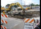 A major street project started Monday morning at the four-way stop intersection in the heart of downtown Anna.