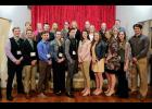 Union County CEO program students are, in the first row, from left, Jackson Laster, Conner Jerolds, Zach O'Neal, Elle Mason, Gabe Thompson, Maddie Bundren, Amanda Smith, Olivia Schroeder, Katie Charles and Zach Griffin. Mentors are, in the second row, Mindy Carter, Beth Marks, Darren Bailey, Glenda Boone, Casey Stout, Mary Ann Stout, Jonathan Bevis, Stephanie Cox, Larry Carter, Evelyn Bailey and Greg George. Photo provided.