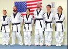 Coffman's Martial Arts Academy students who have been promoted to black belts include Cooper Johnson, Wes Johnson, Heather Coffman, Andrew Inman, Dillon Greer and Jacob Cross. Photo provided.