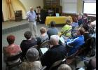 Historian and author Darrel Dexter, standing, shared some stories about the Union County area's history during a presentation held last Sunday afternoon at Stinson Memorial Library in Anna.