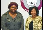 From left are Jessica Edwards and Shawnee Community College president Peggy Bradford. Shawnee Community College photo.