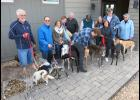 Greyhound owners, and their dogs, from the Southeast Missouri and Southern Illinois area, gathered Saturday, Nov. 9, at Alto Vineyards in Alto Pass.