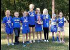 Jonesboro School girls' cross country team members are, from left, Kenzie Miller, Mackenzie Barnhart, Reese Jones, Mackenzie Pearson, Zoe Jones, Brianna Hileman, Kinley Leek and Reagan Jones. Photo provided.