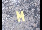"This week's column is brought to you by the letter ""M,"" as in monsoon. Or, maybe, meow. For some reason, this ""M"" was laying on the street. I spotted it on a recent walk. On a ""M""onday, I think."
