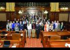 Members of State Sen. Dale Fowler's Youth Advisory Council were in Springfield March 6. Photo provided.