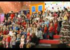 Elementary students sang several classic Christmas songs. Photo by Lindsey Rae Vaughn.
